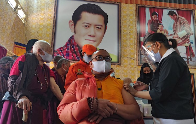 Bhutan Vaccinates 62% of its Population; Thanks to Indian Help