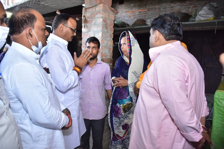 BJP Leaders Visit Families Of Party Workers Killed In Lakhimpur Kher For First Time