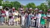 Protest At Gandhi Statue In Parliament- Demand To