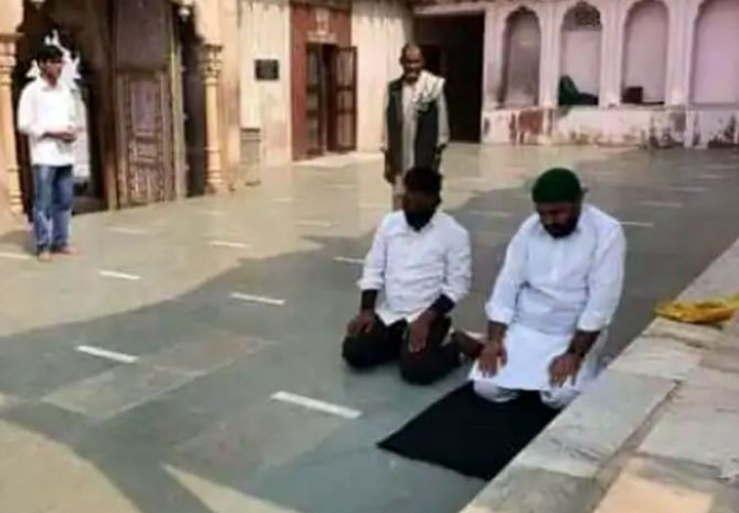 Who Are The People Who Offered Namaz Inside Mathur