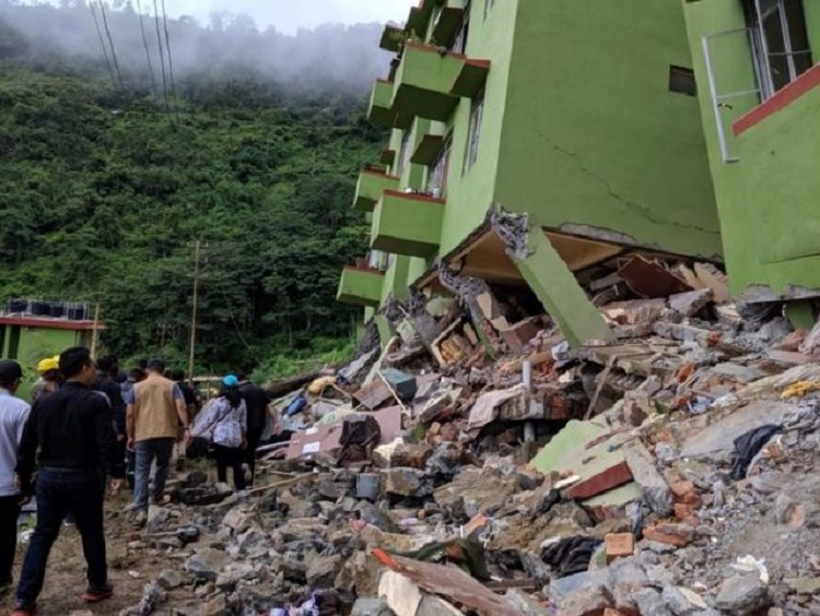 Earthquake Jolts Mizoram, Houses And Roads Damaged