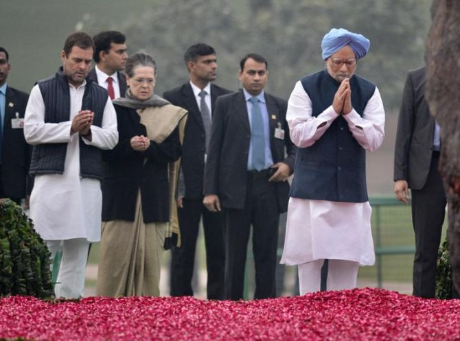 JUST IN: Congress Stalwarts At Shakti Sthal