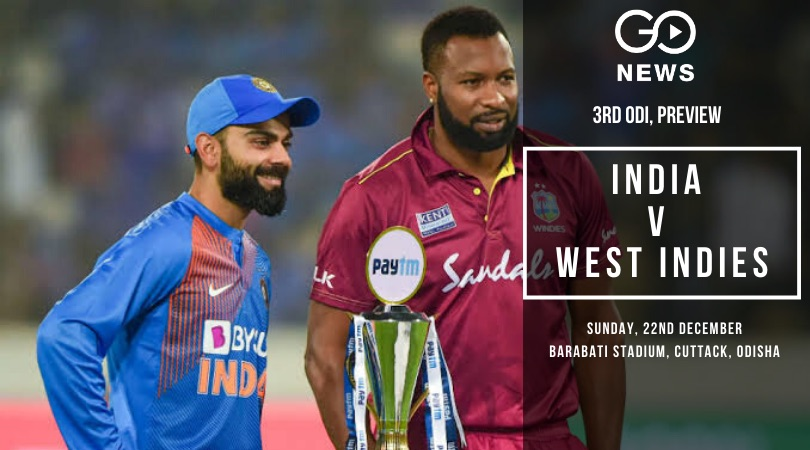 3rd ODI: India Looks To End The Year On A High