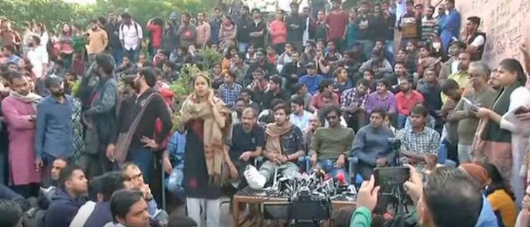 JNU Student's Union Press Conference