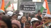 Congress Stages Protest In Delhi In Solidarity Wit