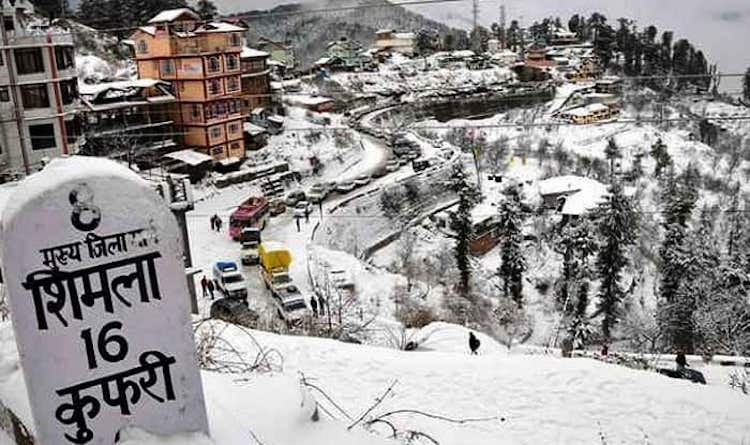 Himachal Pradesh Gets Season's First Snowfall