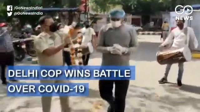 Delhi Cop Recovers From COVID-19, Gets Rousing Rec