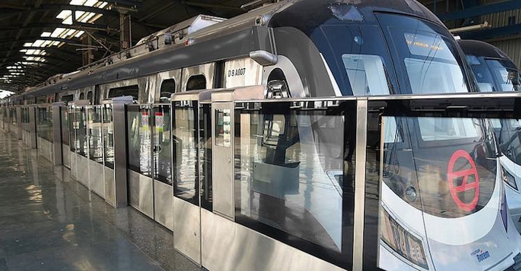 Delhi Metro service on gray corridor connecting Na