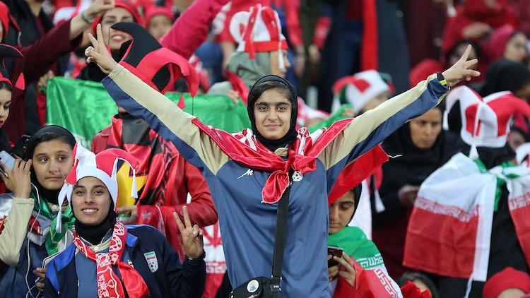 IRAN OPENS STADIUM GATES FOR WOMEN FOOTBALL FANS