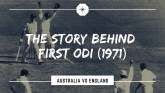 Cricket Trivia: Story Of First One Day Internation
