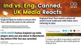 UK Media Reacts test Match Cancelled