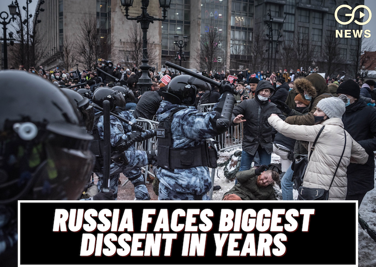 Russia Faces Biggest Dissent In Years