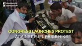 Congress Stages Protest  Against Fuel price Hike
