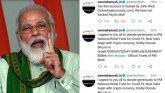 PM Modi's Twitter Account Of Personal Website Hack