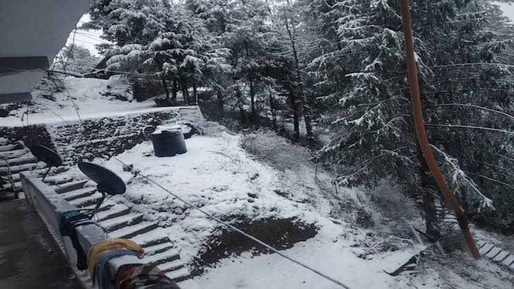 Narkanda Snowfall Attracts Hundreds