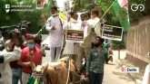 DPCC Leaders Detained During Protest Against Fuel