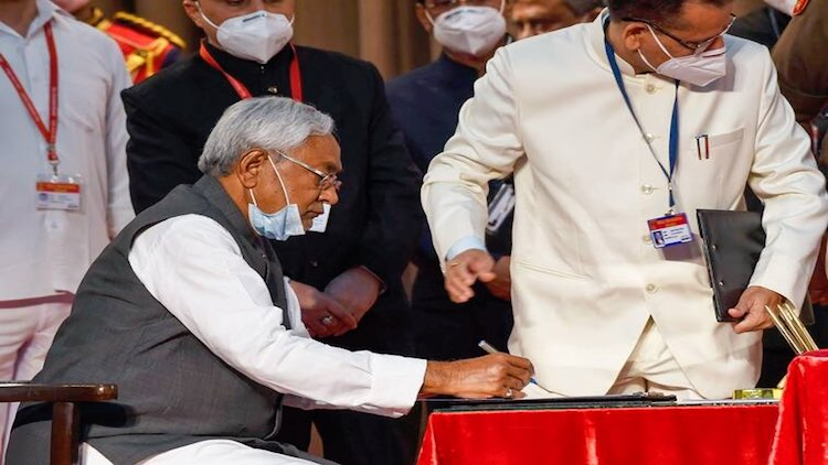 Nitish Takes Oath As Bihar CM, Gets 2 Deputies Fro