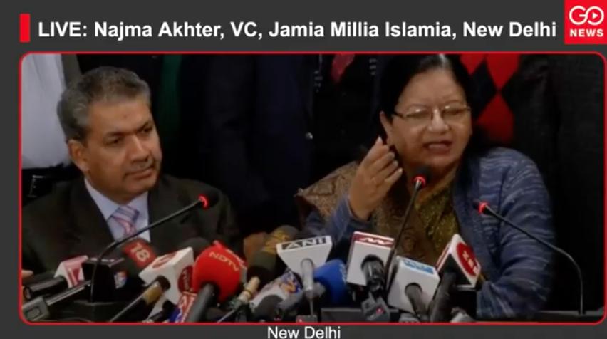LIVE: Najma Akhter, VC, Jamia Millia Islamia, New