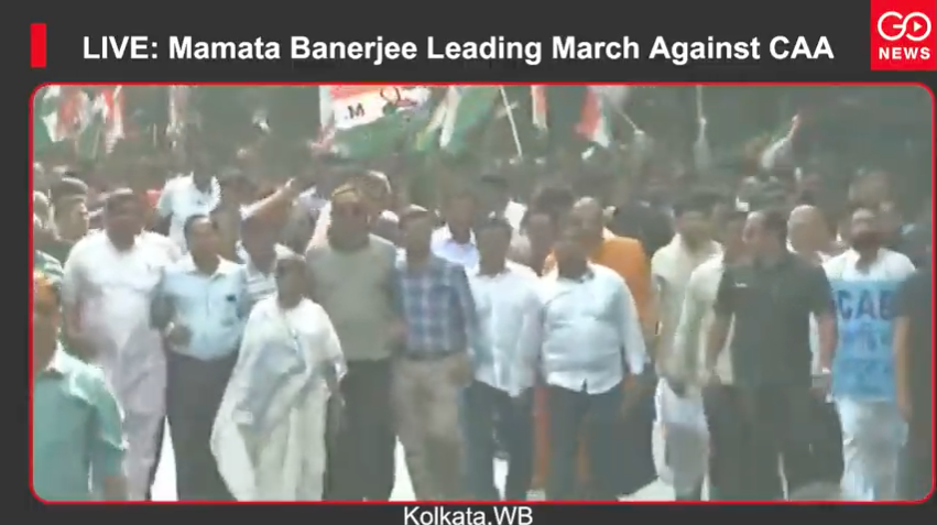 LIVE: Mamata Banerjee Leading March Against CAA
