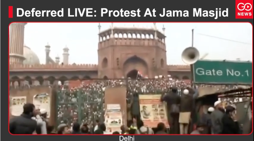 Deferred LIVE: Protest At Jama Masjid