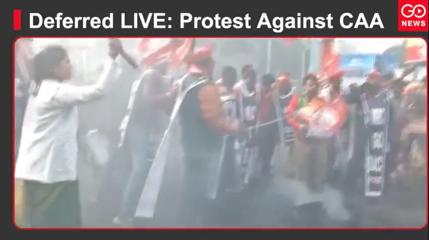 Deferred LIVE: Protest Against CAA