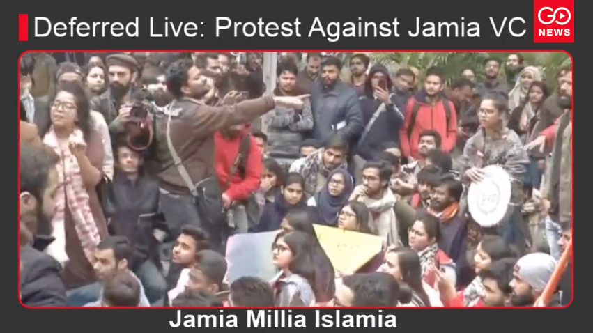 Deferred Live: Protest Against Jamia VC
