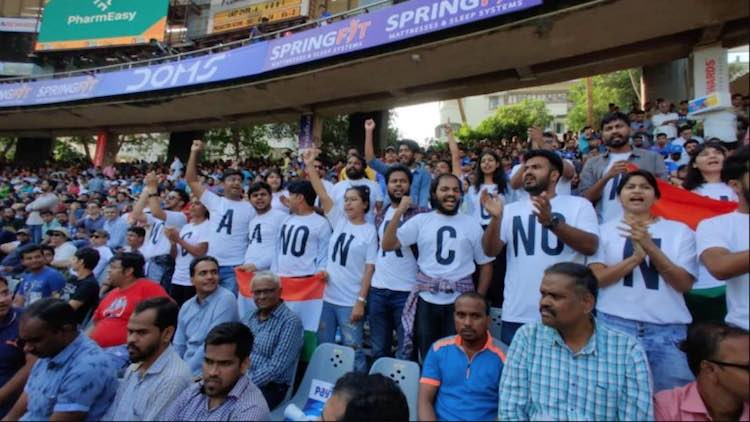 Ind Vs Aus: Anti-CAA Posters Flashed At Wankhede S