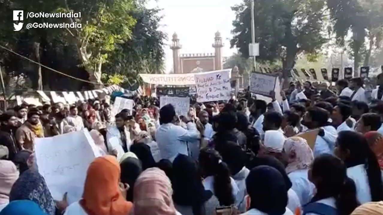 Hundreds Of Medical Students From AMU Protest Agai