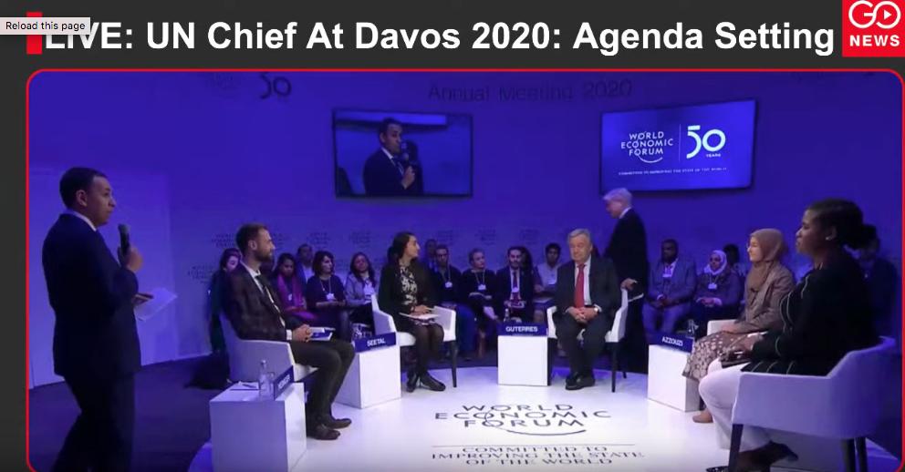 LIVE: UN Chief At Davos 2020: Agenda Setting