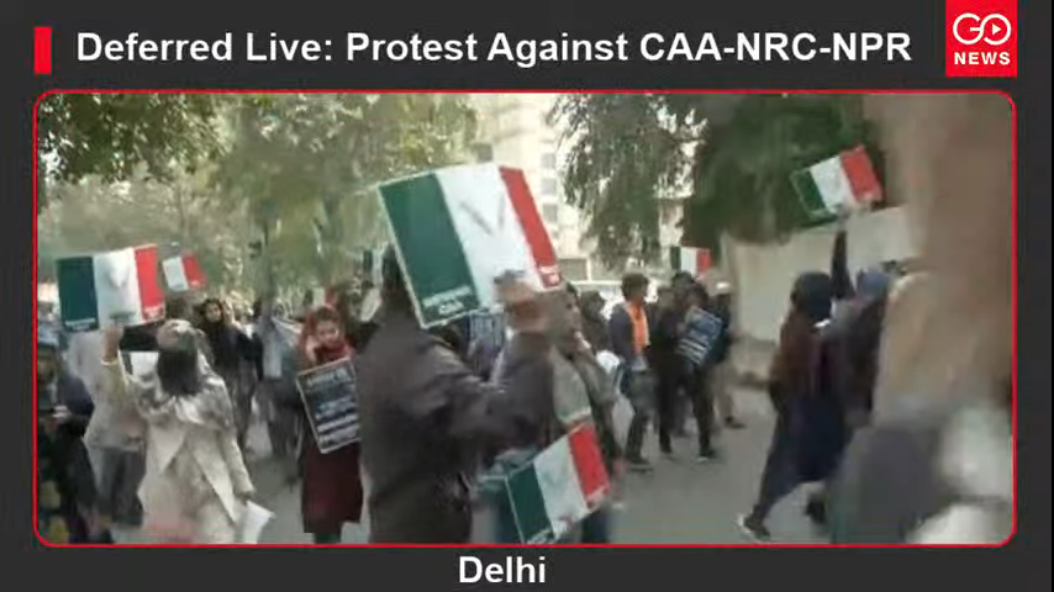 Deferred Live: Protest against CAA & NRC