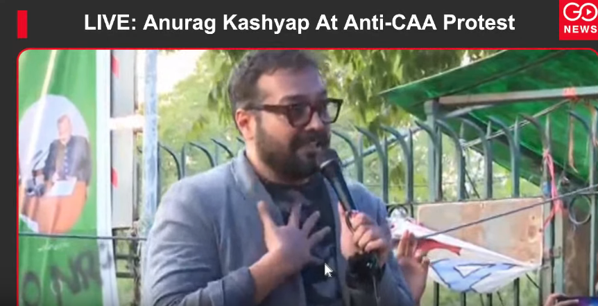 LIVE: Anurag Kashyap Addresses Anti-CAA Protesters