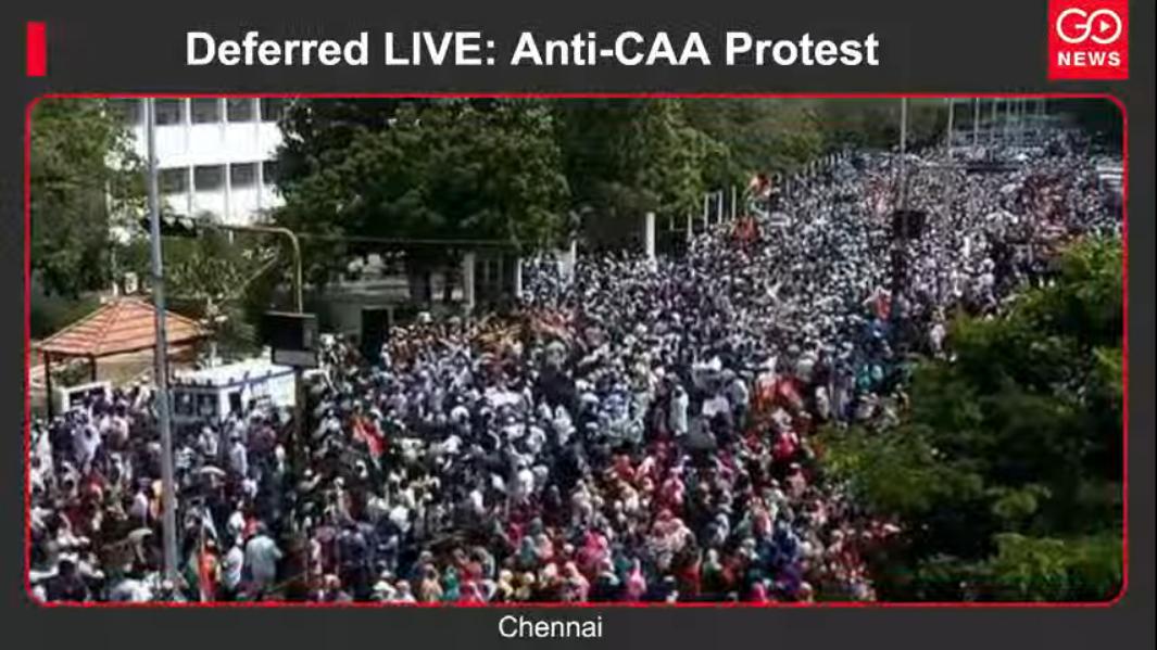 Deferred LIVE: Anti-CAA Protest