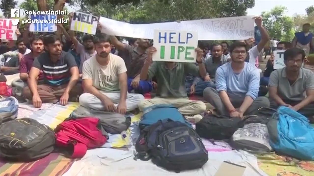 IIPE Students Protest Over Campus Recruitment Driv