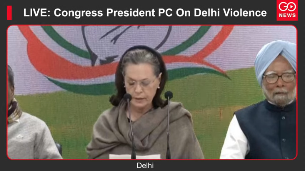 LIVE: Congress President PC On Delhi Violence