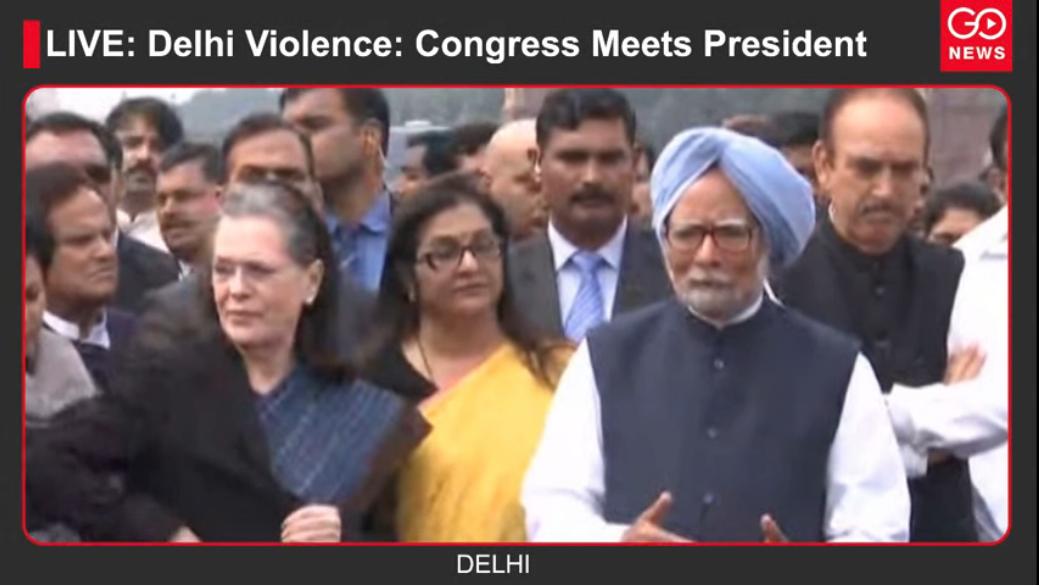 LIVE: Delhi Violence: Congress Meets President