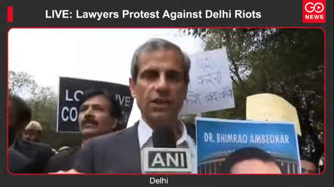 LIVE: Lawyers Protest Against Delhi Riots