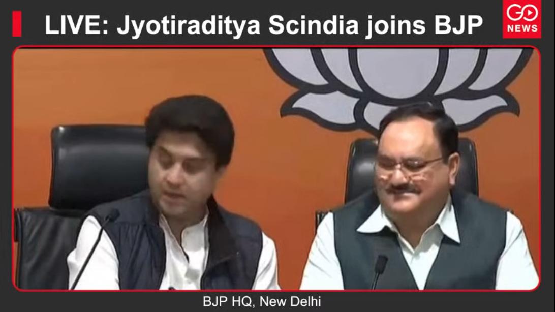 LIVE: Jyotiraditya Scindia joins BJP