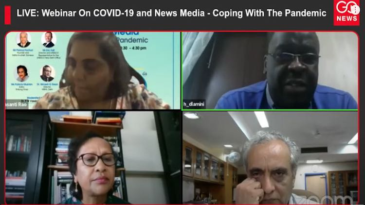 Webinar On COVID-19 and News Media - Coping With T