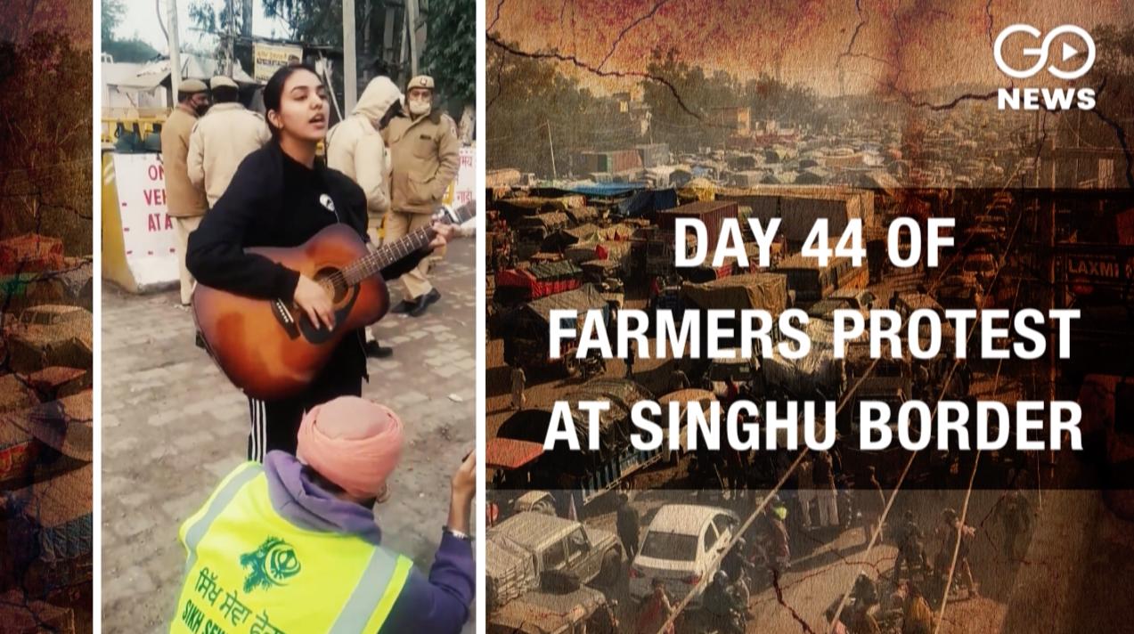 Farmers Protest: Cops Watch As Artist Sings In Sup
