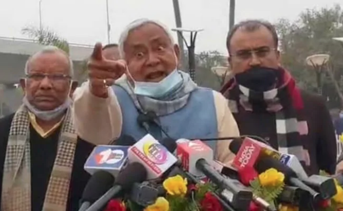 Bihar CM Nitish Kumar Loses Cool After Being Quest