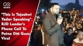"""This Is Tejashwi Yadav Speaking"". RJD L"