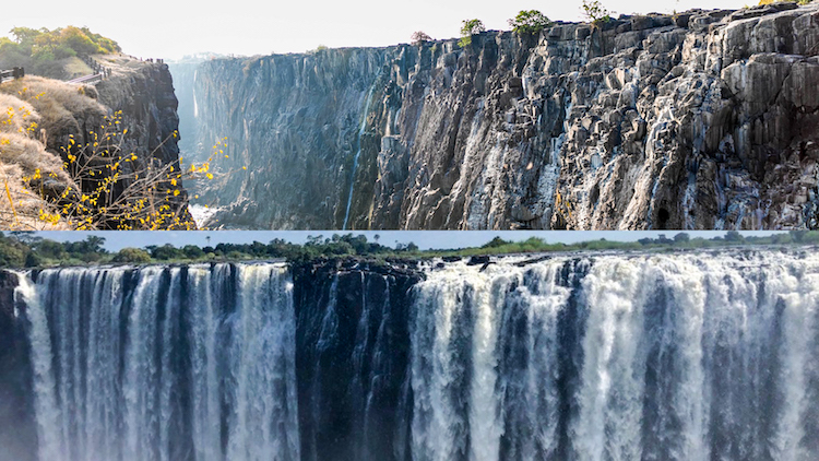 Victoria Falls On The Verge Of Drying Up