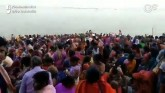 Hundreds Take 'Holy Dip' In Prayagraj Defying Soci