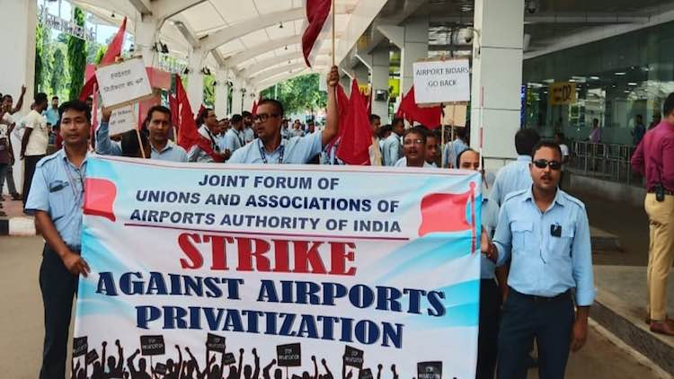 AAI Employees protest