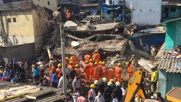 4-Storey Building Collapses in Bhiwandi