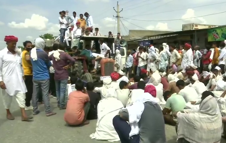 Rajasthan farmers traveled to Delhi if gram was no