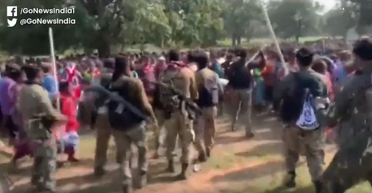 Tribals Protest Against Police Camp In Dantewada
