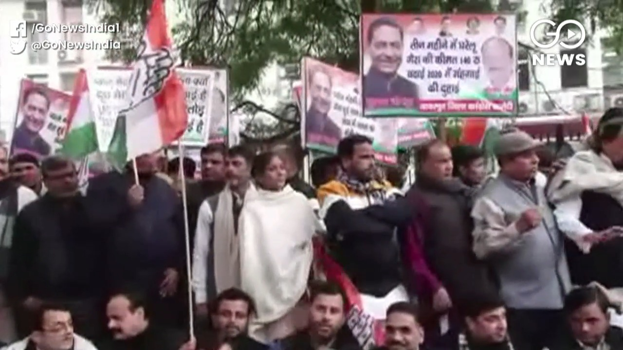 Congress Protests Against Inflation, LPG Price Hik