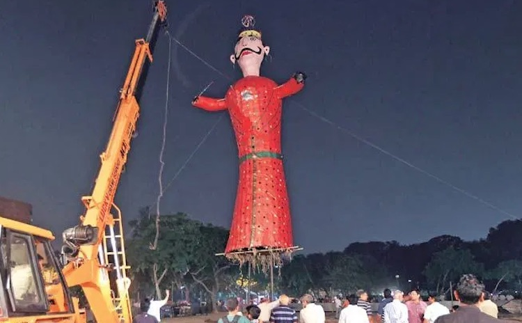 The largest Ravan in the country will burn in Chad