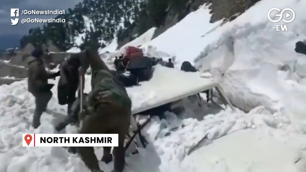 Snow Avalanche Hits SDM's Vehicle In Kashmir's San